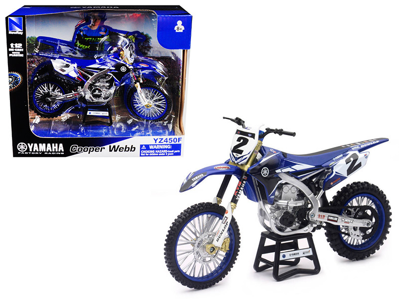 Yamaha Factory Racing YZ450F #2 Cooper Webb Motorcycle Model 1/12 by New Ray, New Ray Item Number 57893