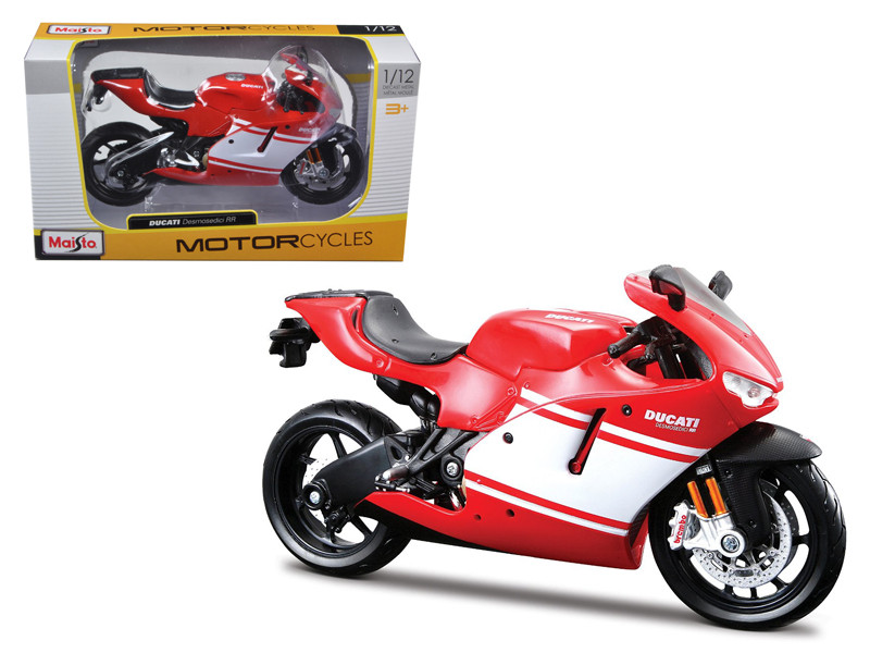 Ducati Desmosedici RR Red Motorcycle Red/White 1/12 Diecast Model by Maisto, Maisto Item Number MST31190R/W