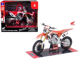 Honda Racing Team CRF450R Cole Seely #14 Motorcycle Model 1/12 by New Ray, New Ray Item Number 57933