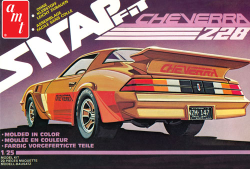 """Cheverra"" Custom 1980 Camaro Z28 1:25 Snp, AMT Plastic Model Kits Item Number AMT1007"