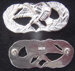 Air Force Occupation & Aeronautical Badges - Maintenance Basic Full Size Sterling, Weingarten Gallery Item Number P-2211