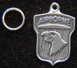 101st Airborne  Sterling Silver Charm by Weingarten Gallery Item Number: P-2324