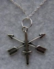 US Special Forces Arrow Necklace  Sterling Silver by Weingarten Gallery Item Number: P-1728N