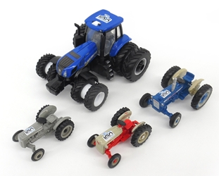 Ford New Holland 100th Anniversary Tractor 4-Piece Set (1:64), ERTL, Item Number ERTL16367