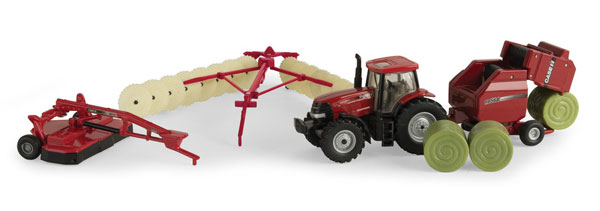 Case IH Haying Playset Playset Includes: Puma 210CVT (1:64), ERTL Item Number ERTL44078
