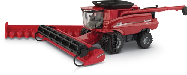 Case 7250 Combine with 12-Row Corn Head Draper Grain Head and Folding Auger 1:64 by ERTL Item Number ERTL44166
