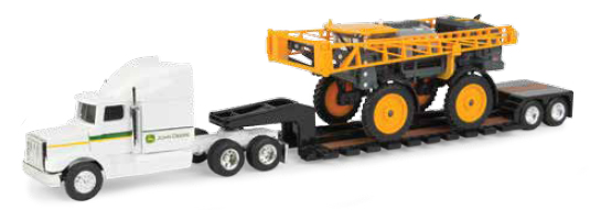 Hagie STS12 Sprayer with Semi and Lowboy Trailer (1:64), ERTL Item Number ERTL45633