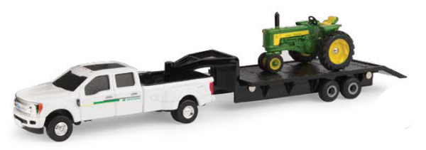 John Deere 530 Tractor and Ford F350 Dually Pickup Truck (1:64), ERTL, Item Number ERTL45651
