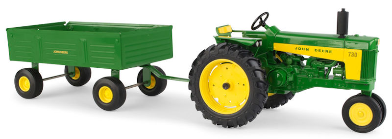 John Deere 730 Tractor with Barge Wagon 1:16 by ERTL Item Number ERTL45686