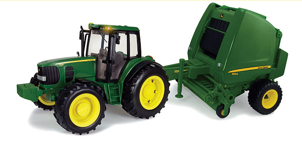 John Deere 7330 Tractor and 854 Baler Set (1:16), ERTL Item Number ERTL46180