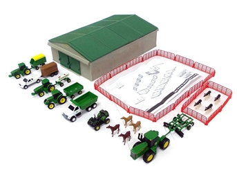 John Deere 70-Piece Farm Playset (1:64), ERTL Item Number ERTL46276