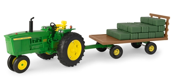 John Deere 4020 Tractor with Wagon and Hay Bales (1:16), ERTL Item Number ERTL46724