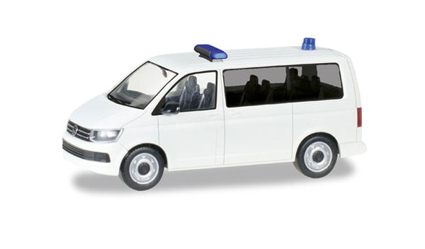 Volkswagen T6 Van in White with Lights  (1:87), Herpa HO Scale Models, Item Number HE012904