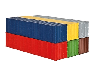 40ft Containers 6-Piece (1:87, HO)