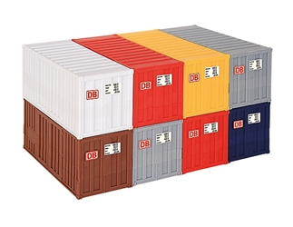 20 ft Container 8-Piece Set (1:87, HO)
