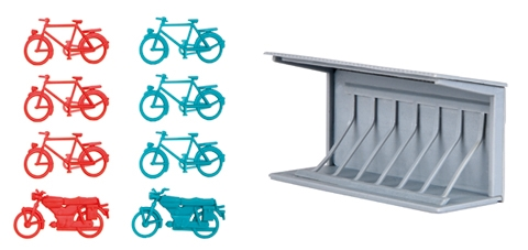 Bicycle Stand (1:87, HO)