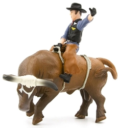 Bucking Bull and Rider by Little Buster <p> Item Number: LBB500248