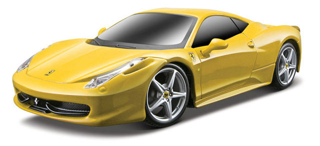Ferrari 458 Italia in Yellow - Remote Controlled Vehicle 49 MHz (1:24), Maisto Item Number MST81058Y-49