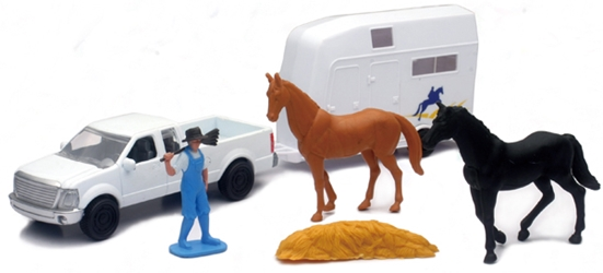 Country Life Horse Transport Playset Playset Includes: Farmer, NewRay Item Number NR04086-B