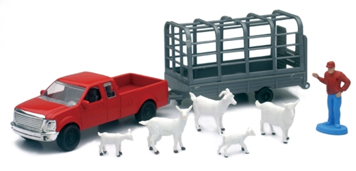 Country Life Goat Transport Playset Playset Includes: Farmer, NewRay Item Number NR04086-E