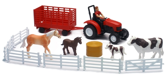 Country Life Cow and Horse Playset Playset, NewRay Item Number NR04096-B
