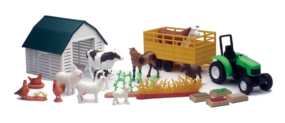 Country Life Farm Animals Deluxe Set