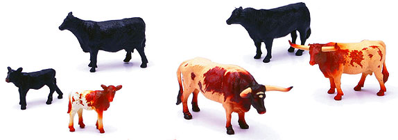Country Life Series - Farm Cattle 6-Piece Boxed SET (1:32)