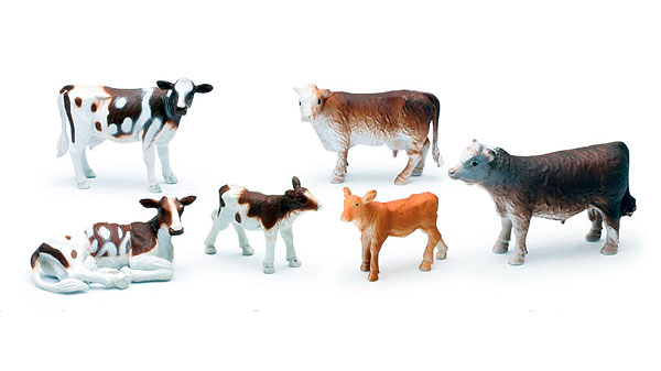 Country Life Series - Farm Cattle 6-Piece Boxed Playset (1:32)