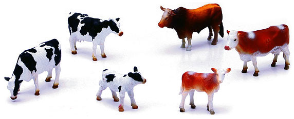 Country Life Series - Farm Cattle 6-Piece (1:32)