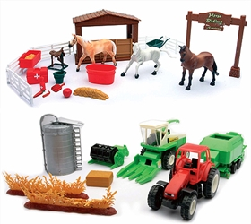 Country Life Farm Town Set  (1:32), NewRay Item Number NR05905-SET1