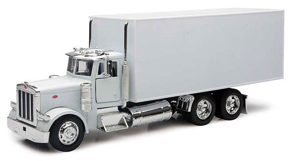 Peterbilt Box Truck in Plain White (1:32), New Ray Item Number NR10243