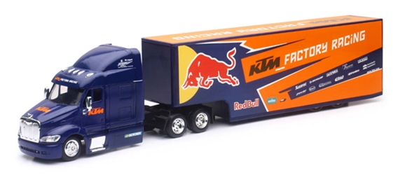 Red Bull KTM Racing - Peterbilt 387 with 3-Axle Trailer (1:43), New Ray, Item Number NR15973