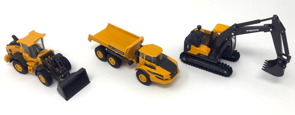 Volvo Construction Playset Includes: Volvo 60H Wheel Loader, NewRay Item Number NR32095