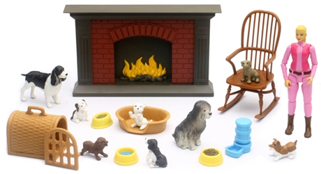 Dog Lovers Indoor Playset (1:12), NewRay Item Number NR34176-A