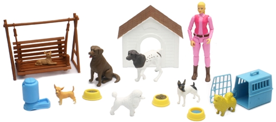 Dog Lovers Outdoor Playset (1:12), NewRay Item Number NR34176-B