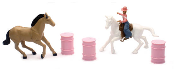 Barrel Racing Playset by New Ray Diecast Item Number: NR37396-D