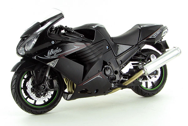 2011 Kawasaki ZX-14 Street Bike in Black (1:12), NewRay Item Number NR57433