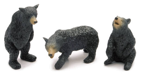 Black Bear Wildlife Playset 1:12 by New Ray Diecast Item Number: NR73617-G