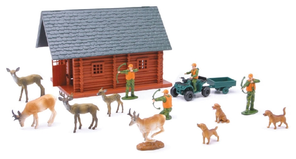 Bow Hunting SET - Wild Hunting Medium size Playset with Accessories (1:24), New Ray, Item Number NR76016B