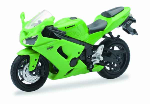 Kawasaki Ninja ZX6RR in Green 1:18 by New Ray Diecast Item Number: NRAS-67013-D