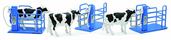3 Dairy Cows with Milking Stations, NewRay Item Number NRSS-05013A