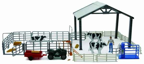 Dairy Cow Deluxe Playset, NewRay Item Number NRSS-05045