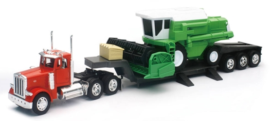 Peterbilt 379 Lowboy with Combine Harvester (1:32), New Ray, Item Number NRSS-11253A