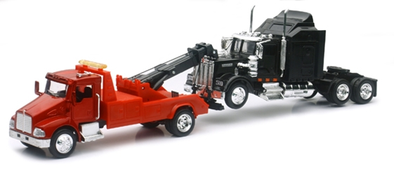 Kenworth T300 Tow Truck with Kenworth W900 Cab (1:43), New Ray Item Number NRSS-15063