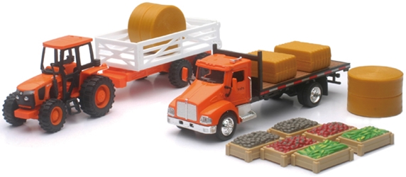 Kubota Farm Tractor Playset Playset Includes: Farm Tractor, NewRay Item Number NRSS-15815A