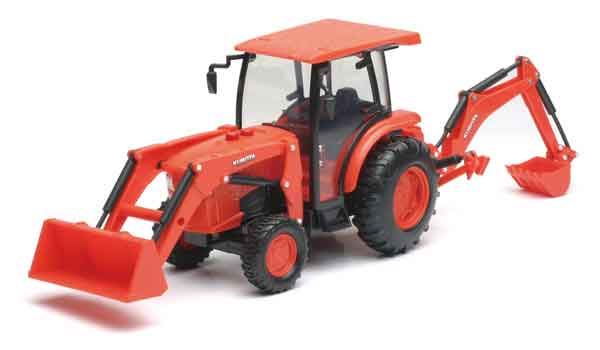 Kubota L6060 Tractor with Loader and Backhoe, NewRay Item Number NRSS-33123