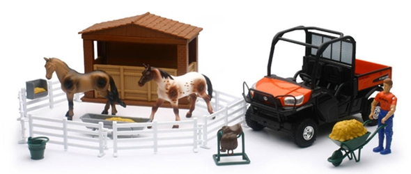 Kubota RTV Horse Playset Playset 1:18 by New Ray Diecast Item Number: NRSS-33343
