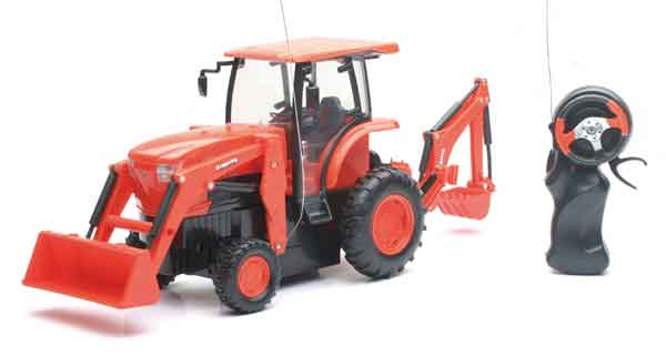 Kubota Remote Controlled L6060 with Loader & Backhoe, NewRay Item Number NRSS-34123