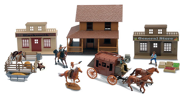 Deluxe Big Western Town Playset, NewRay Item Number NRSS-38465A