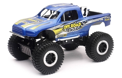 Off-Road Baja 4x4 Pickup Truck in Blue (1:24), New Ray, Item Number NRSS-71476A